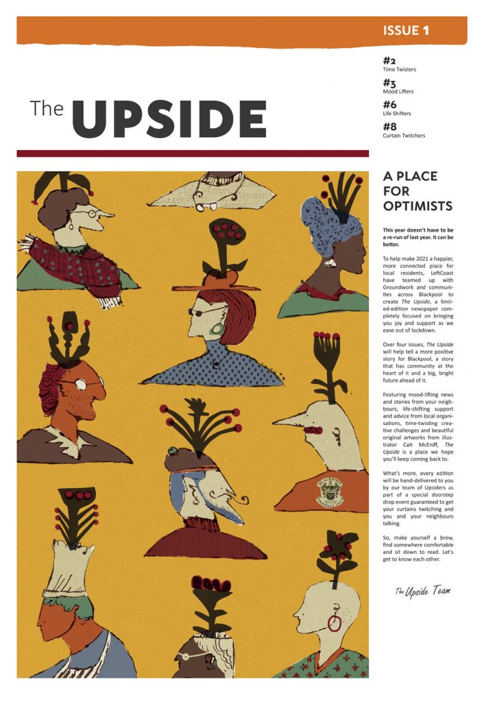 The cover image of Issue 1 featuring an original illustration by Cait McEniff